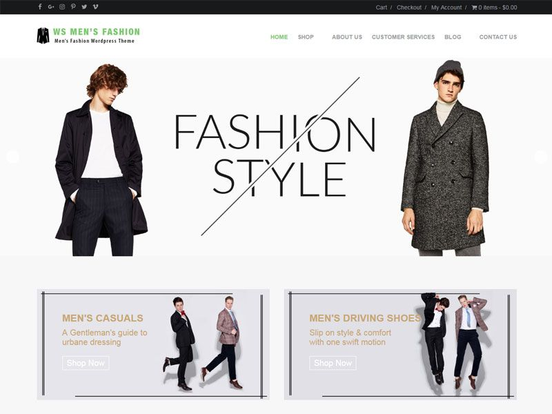 Download Free WS Men\'s Fashion Wordpress theme | Wordpress template ...