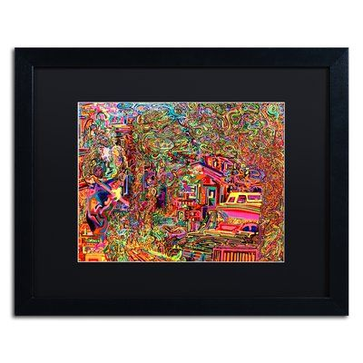 """Trademark Art 'One Inch Further' Framed Painting Print Mat Color: Black, Size: 16"""" H x 20"""" W x 0.5"""" D"""