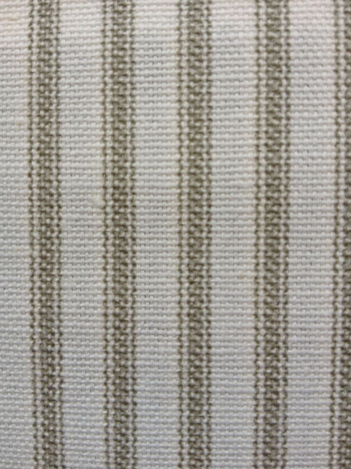 Ticking Stripe Fabric By The Yard Navy Grey Red Brown