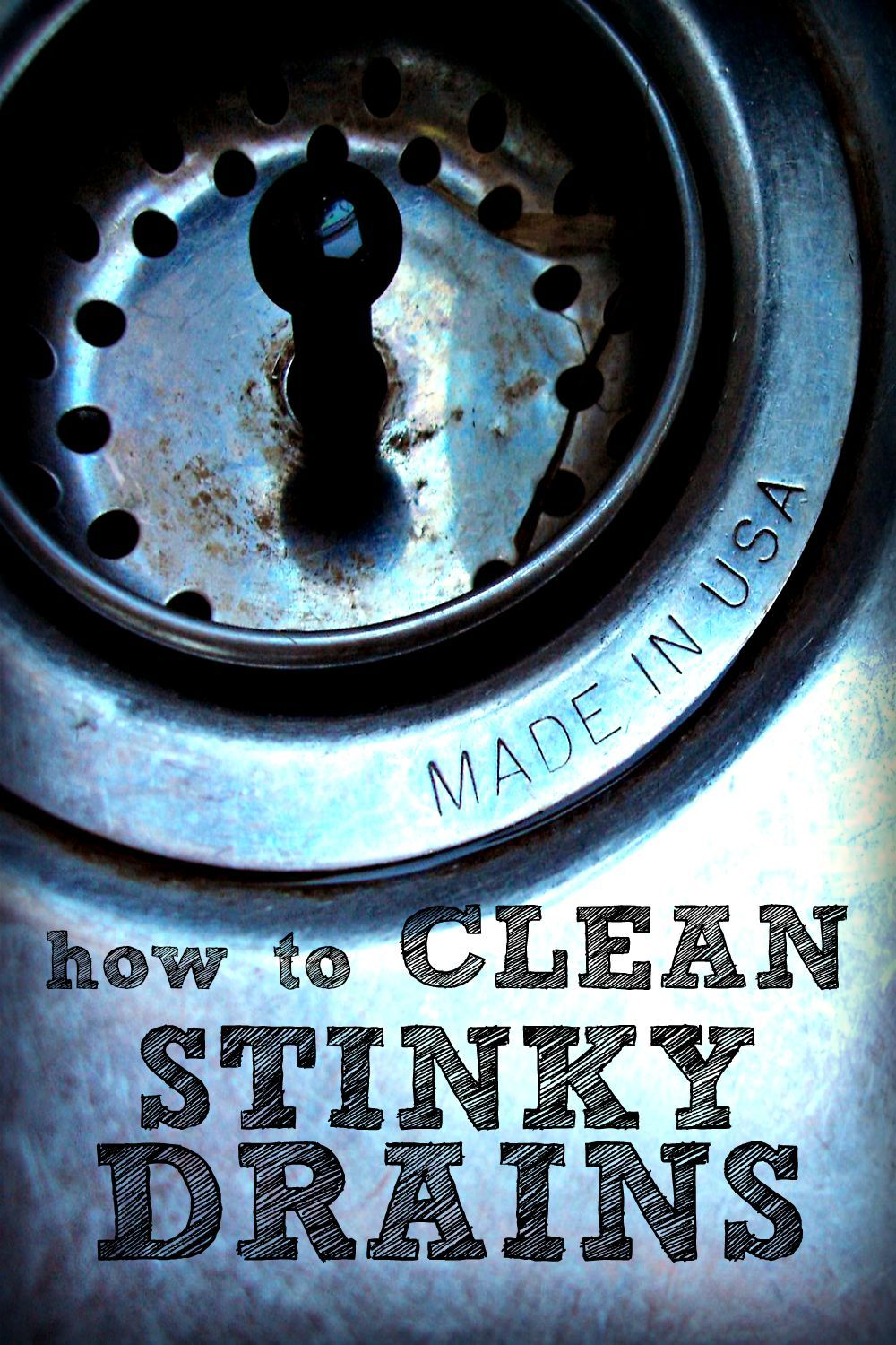How To Clean Stinky Drains Kitchen sink smell, Cleaning