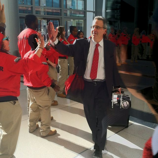 City Year Co Founder Michael Brown Arrives At City Year