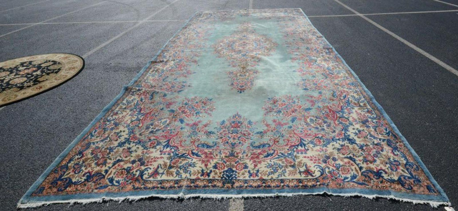 9 10 X 20 2 Kirman Carpet Auction Antiques Bohemian Rug