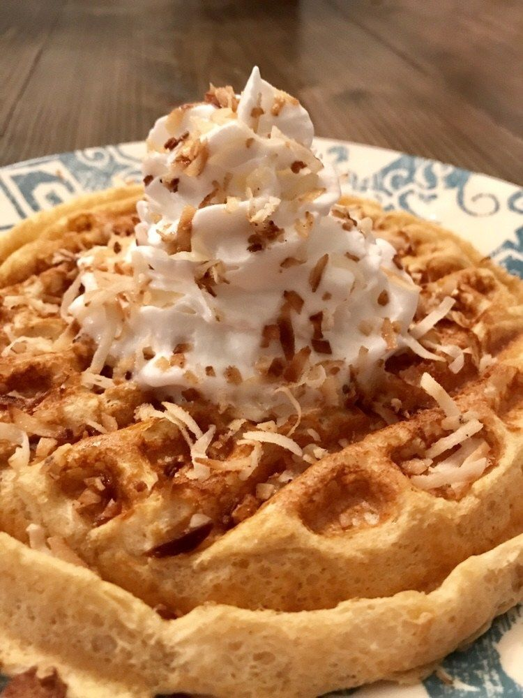 toasted coconut waffle  pound dropper  toasted coconut