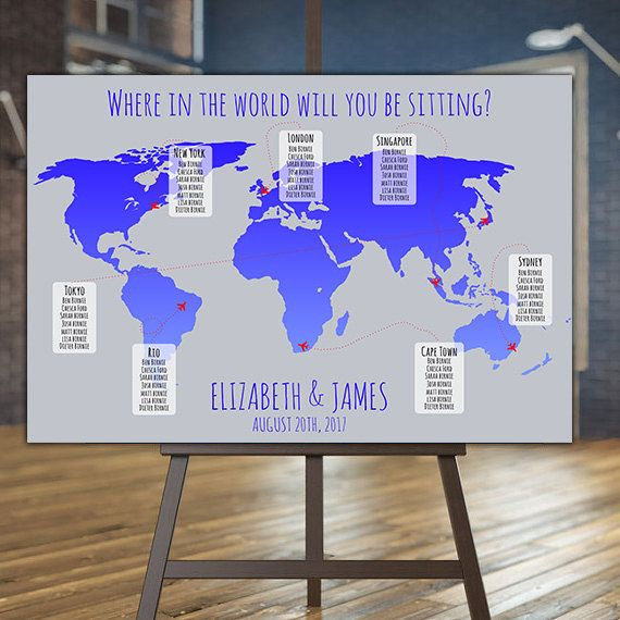 Printable world map wedding seating plan map wedding seating chart printable world map wedding seating plan map wedding seating chart travel wedding theme diy wedding table plans printable seating plan gumiabroncs Choice Image