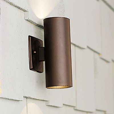 Kichler Lighting 15079azt Up Down Accent 12 Volt Deck And Patio Light Textur Step Lighting Outdoor Outdoor Sconces Wall Wash Lighting