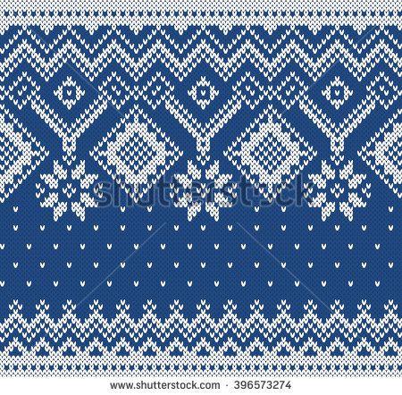07d7ef4d24d5 Winter Sweater Design. Seamless Knitting Pattern