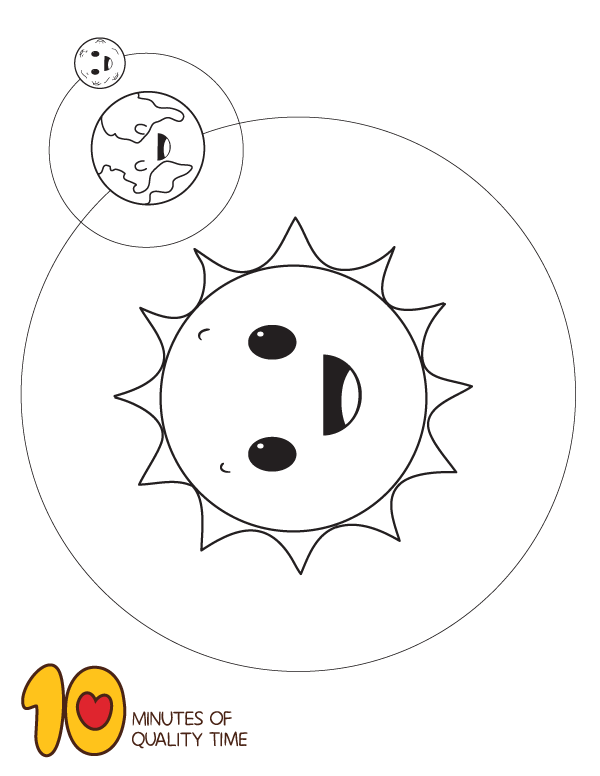 Sun Earth And Moon Coloring Page Moon Coloring Pages Moon For Kids Sun And Earth