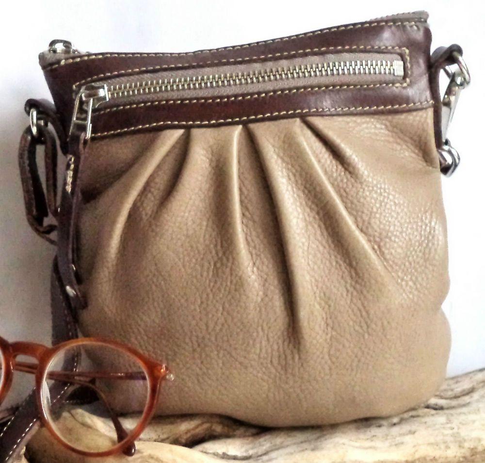 ab977d8782f2 Vintage ROOTS bag prince Leather Beige Brown Pouch Shoulder Crossbody Bag  Purse