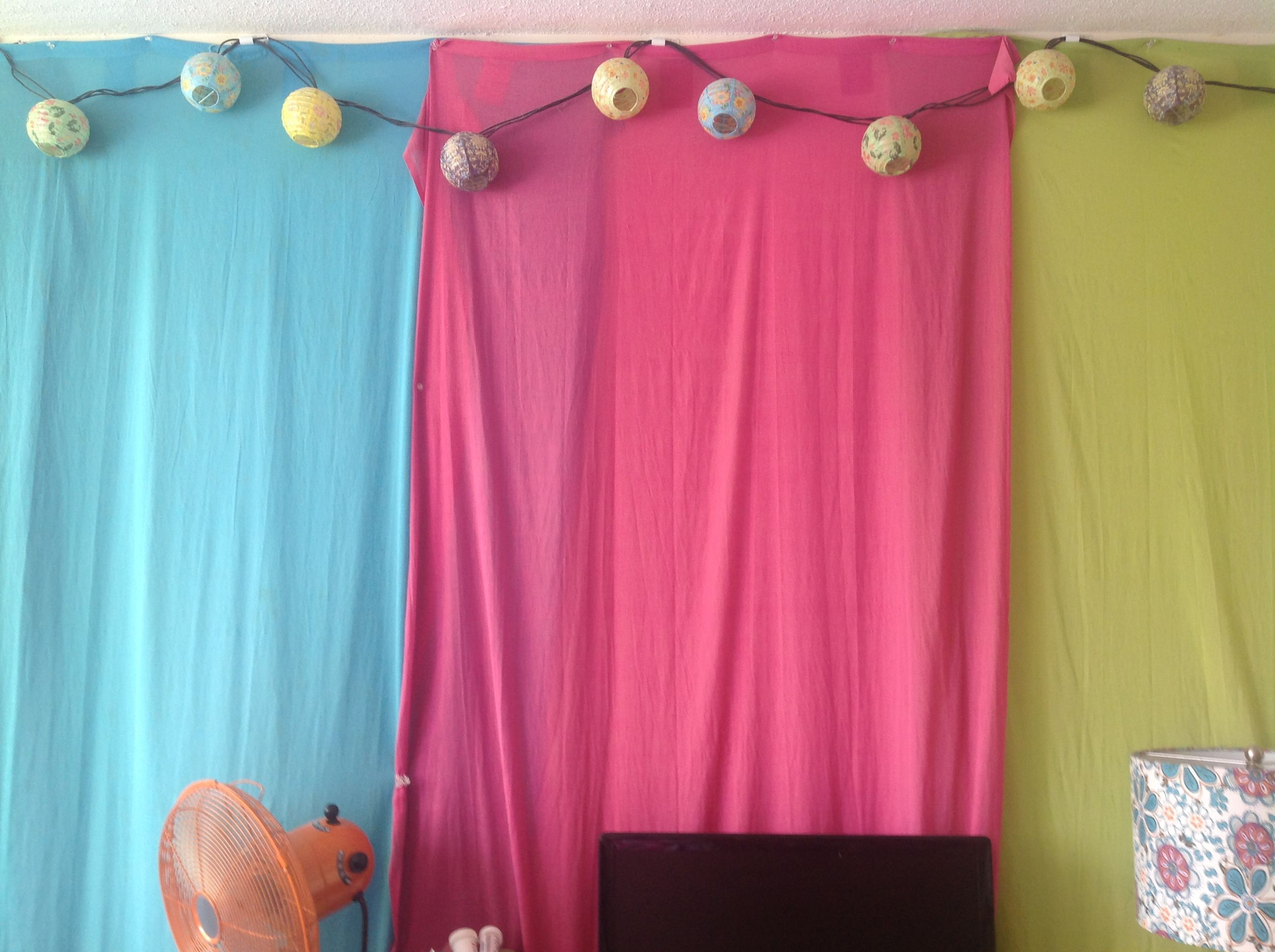 Hang Curtains On Walls If You Can T Paint Plus You Can Take Them Down To Wash Still 5 At Regular Department Stores Kid Room Decor Hanging Curtains Decor
