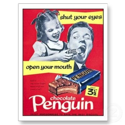 Penguin Chocolate 'shut your eyes, open your mouth'