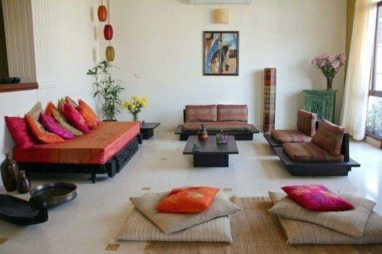 50 Einrichtungsideen im Indian Style für ein farbenfrohes, exotisches Zuhause #indischeswohnzimmer einrichtungsideen wohnzimmer indisch einrichten #indischeswohnzimmer