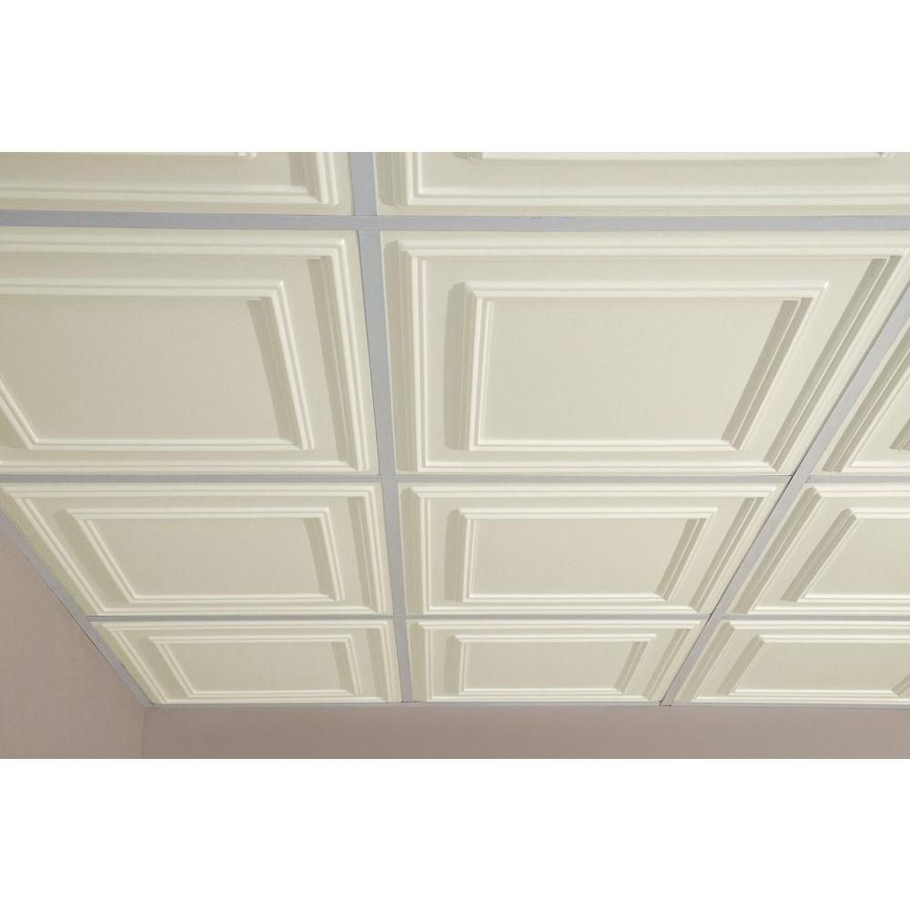 Option 1 heres what it looks like on the ceiling ceilume cambridge ceilume cambridge white evaluation sample not suitable for installation 2 ft x 2 ft lay in or glue up ceiling panel at the home depot mobile dailygadgetfo Choice Image