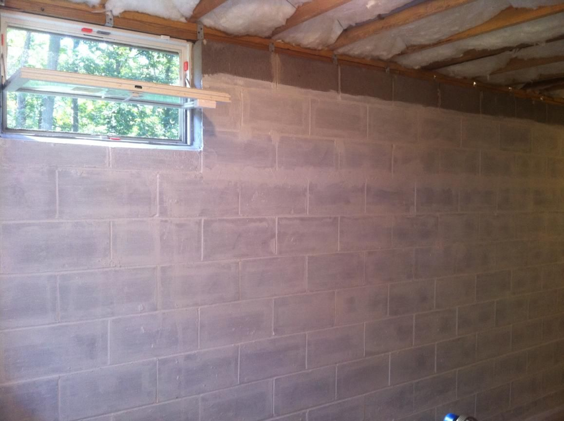 Fist coat of #DRYLOK the outside walls to keep out #moisture