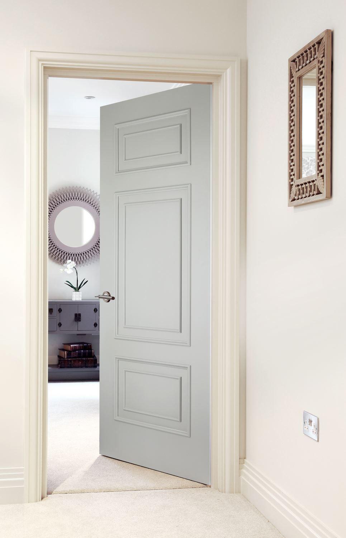 Verniciare Porte Interne Bianche shelbourne 3-panel primed (beespoke) | interni bianchi