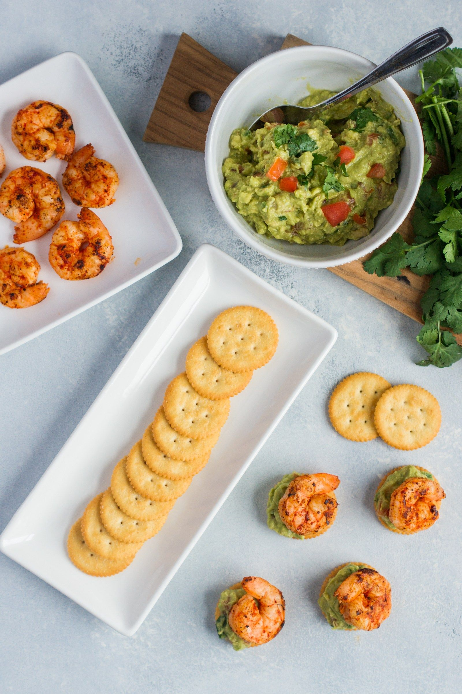 Spicy Shrimp And Guacamole Bites ~ Seared Spicy Shrimp And