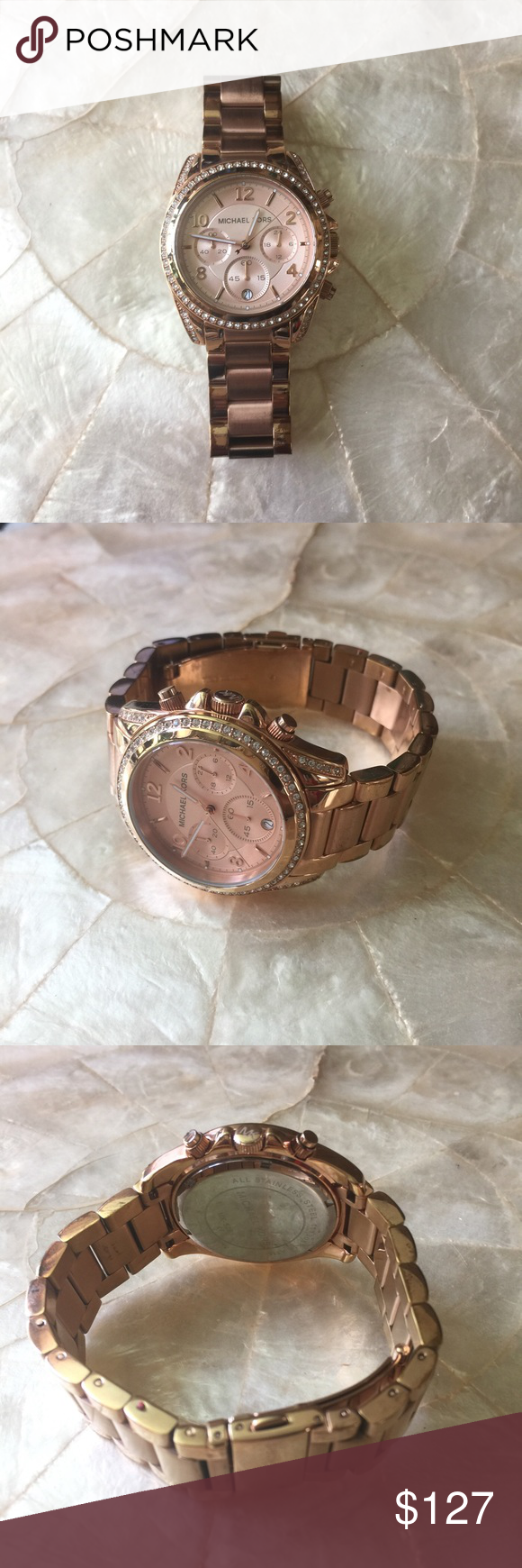 f3ccbcc59be0 Michael Kors Blair Rose Gold Ladies Watch MK5263 100% authentic Michael  Kors Blair rose gold chronograph watch. Luminescent hands.