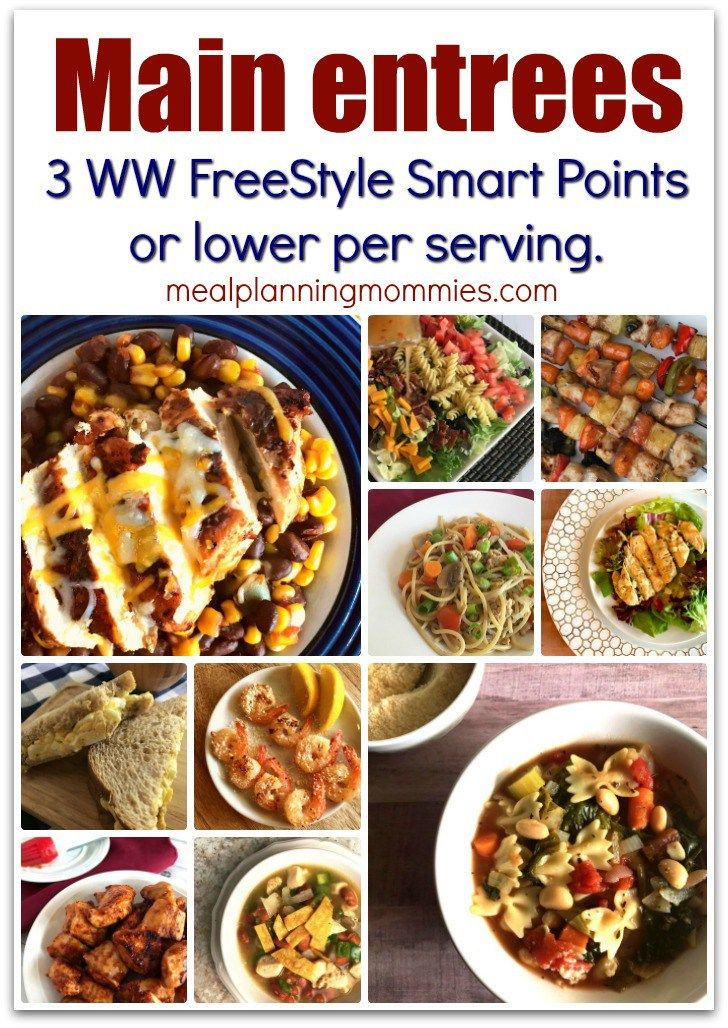 Dinners that are 3 weight watchers freestyle smart points for List of entree dishes