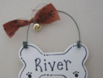 This is a cute dog ornament