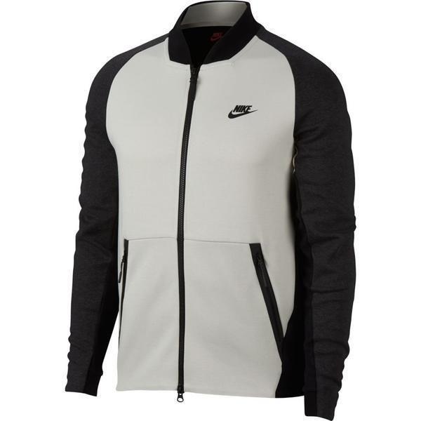 46012c32a8a2 Nike Tech Fleece Varsity Jacket Mens 886617-091 Light Bone Black Jacket  Size 2XL  Nike  FleeceJacket