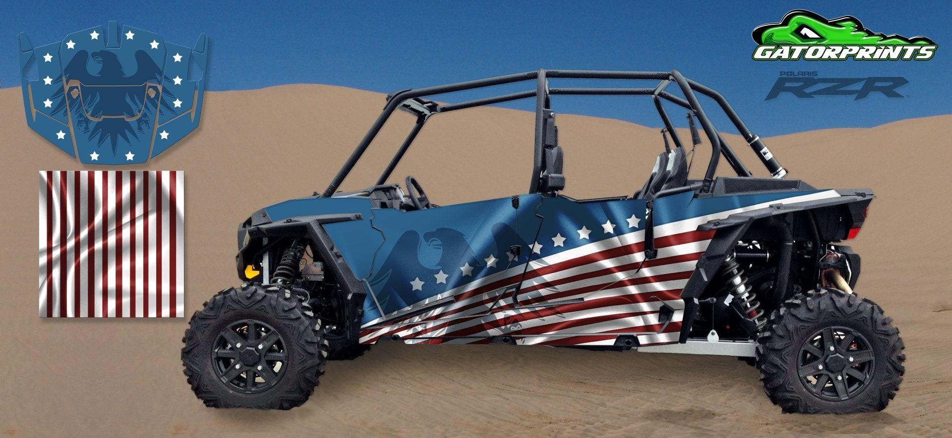 The Patriot Rzr Rzr 1000 4 Seater Custom Decals