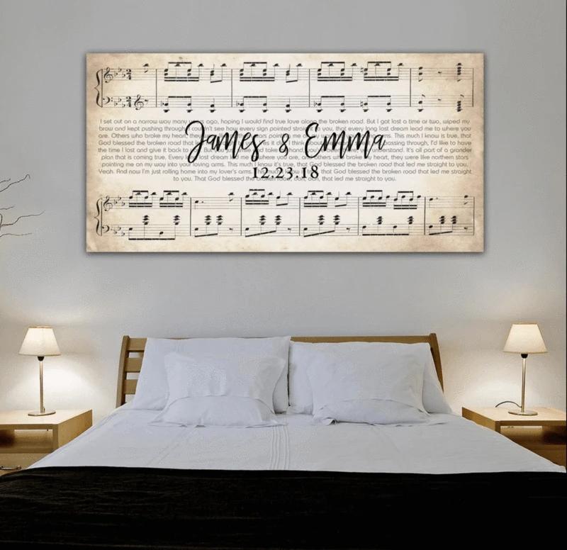 Custom Couple Music Premium Canvas   Music Wall Decor   Couple Art – AmourPrints