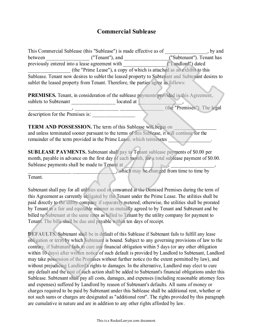 Commercial sublease agreement form template with sample sublet commercial sublease agreement form template with sample sublet agreement template platinumwayz
