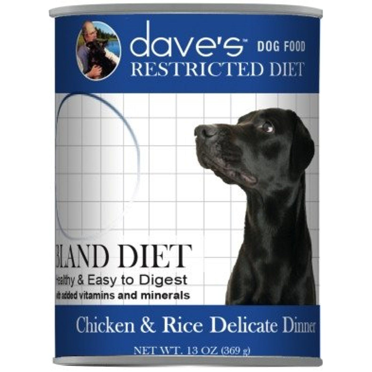 Dave's Restricted Bland Diet, Chicken & Rice For Dogs, 13