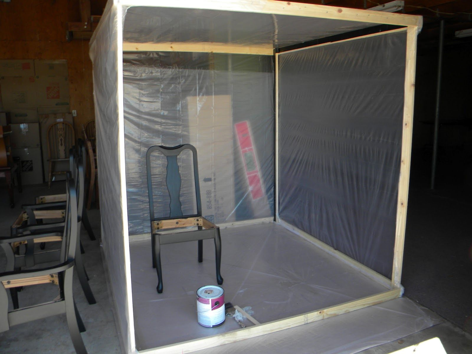 Beautiful Garage Paint Booth | Paint in 2019 | Diy paint ...