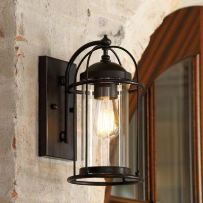 Possini Euro Rectangular Black Up/Down Outdoor Wall Light - Style ...