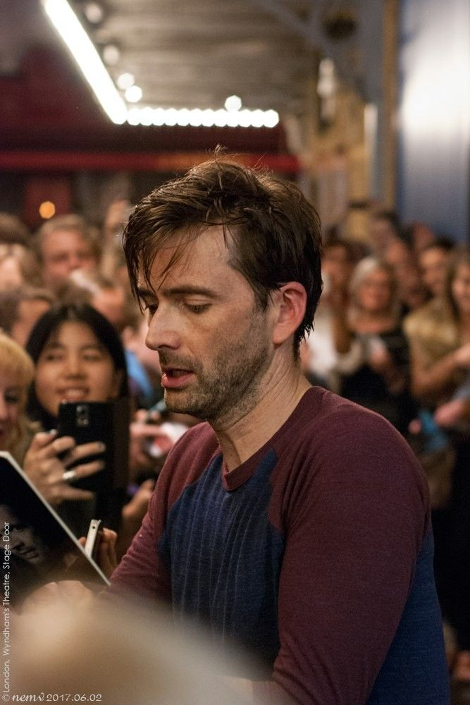 David at the stage door