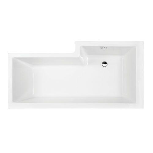 Showercube 1700 left hand bath 1700 x 850 bathroom l - What uses more water bath or shower ...