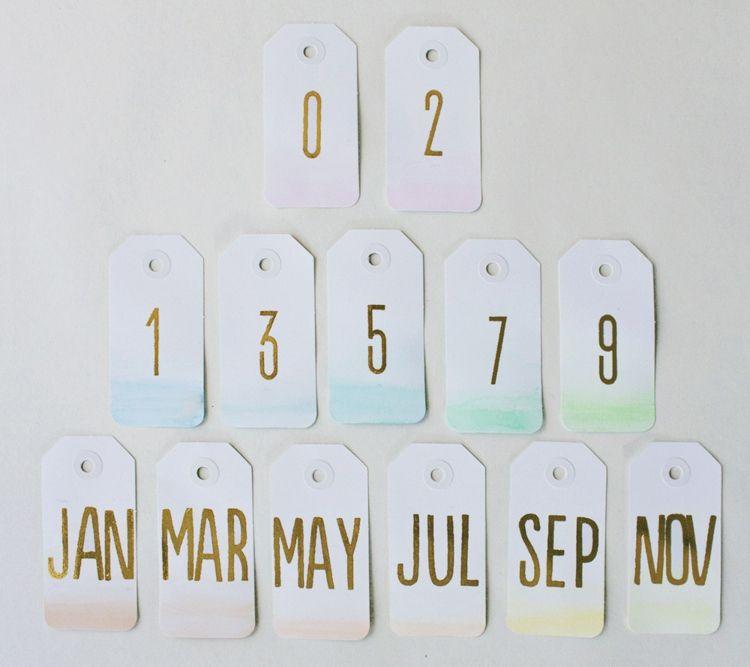 kalender selbst gestalten gold schrift edding zahlen. Black Bedroom Furniture Sets. Home Design Ideas