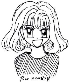 رسم وجه الانمي بزاوية مايوز Female Sketch Art Female