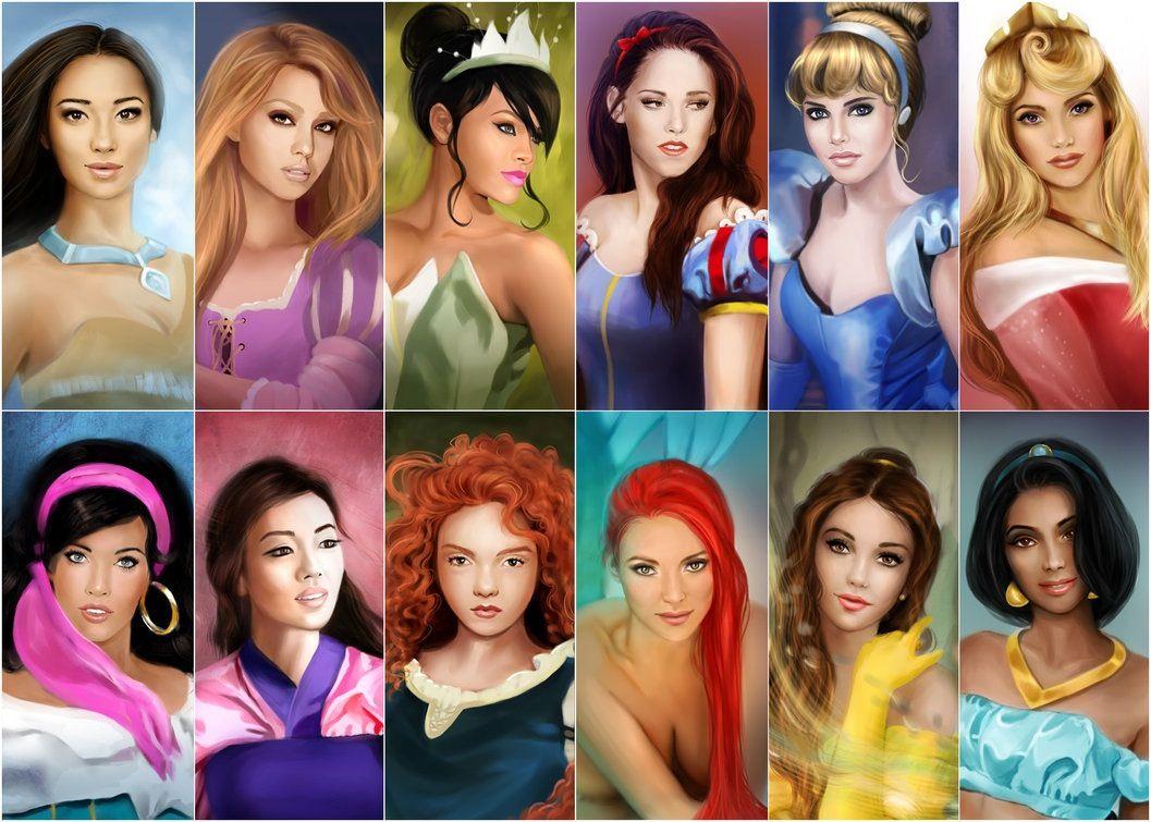 Realistic Makeovers | Disney princess fan art