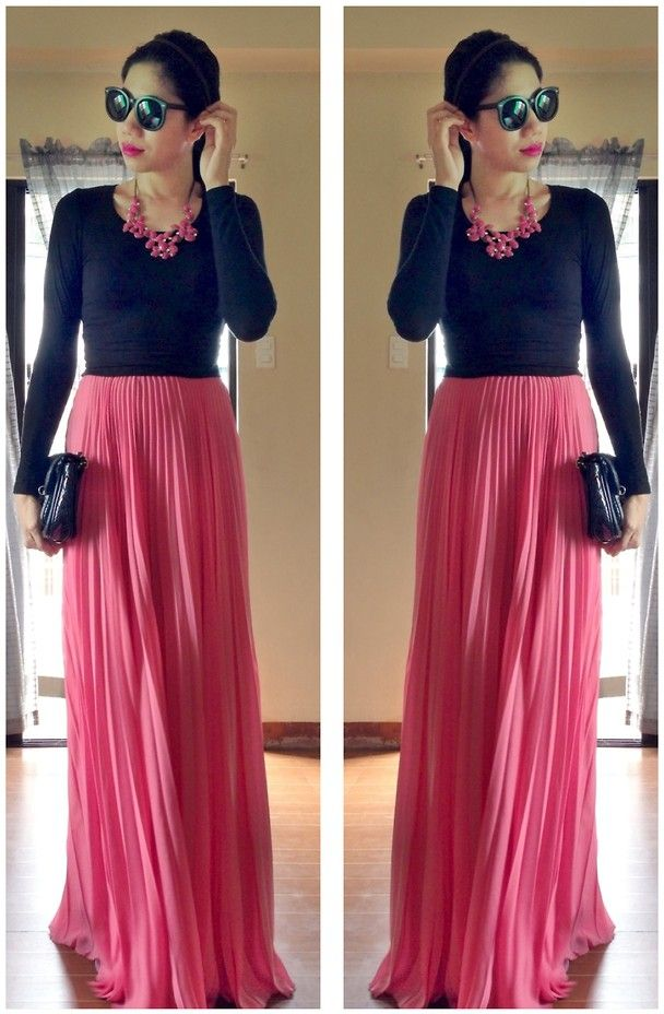 crop top maxi skirt formal - Google Search | croptop | Pinterest