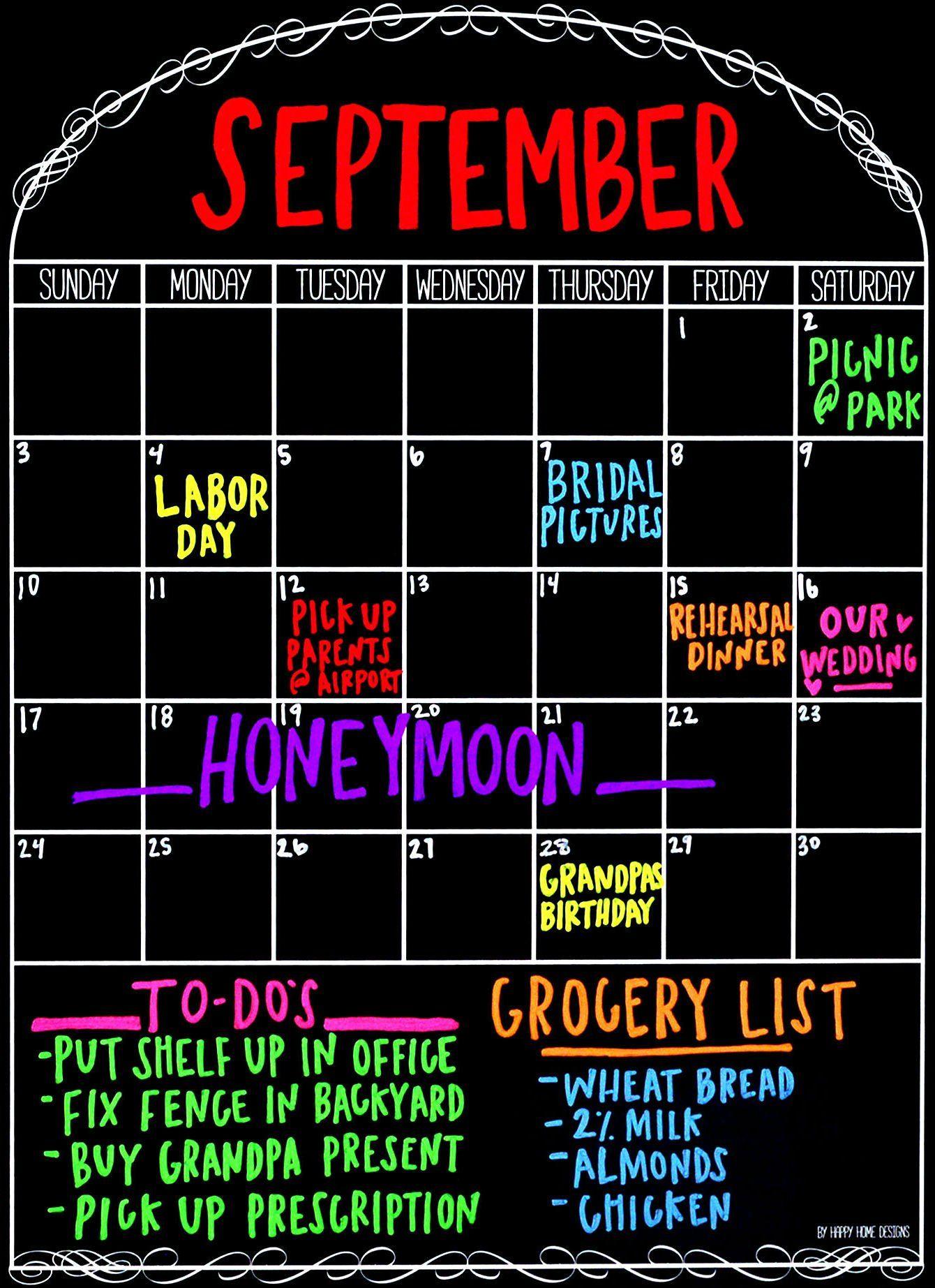 Magnetic Monthly Calendar For Refrigerator : Refrigerator magnetic calendar monthly dry erase whiteboard
