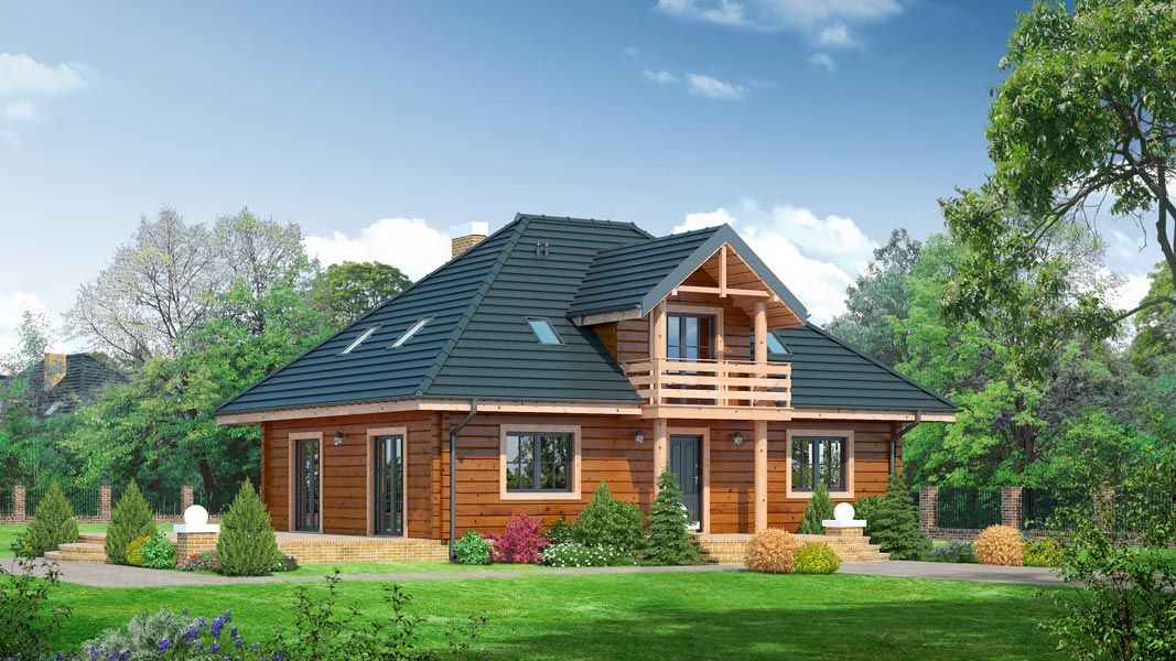 http://aledomydrewniane.pl/projekty,domow,176,Ciechanów dws - Projekt domu z płazów drewnianych. Dom parterowy z poddaszem użytkowym..html