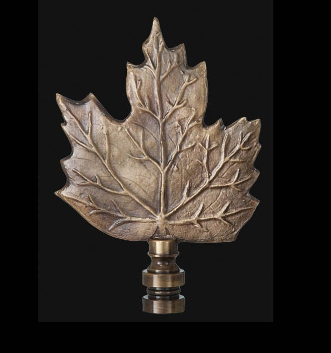 Maple Leaf Finial, 3 In Ht, Tap