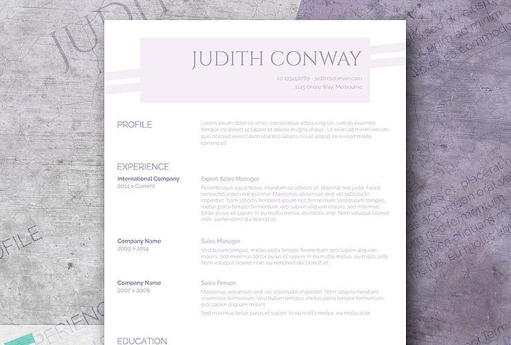 Lilac Resume Design  Class Tips    Modern Resume