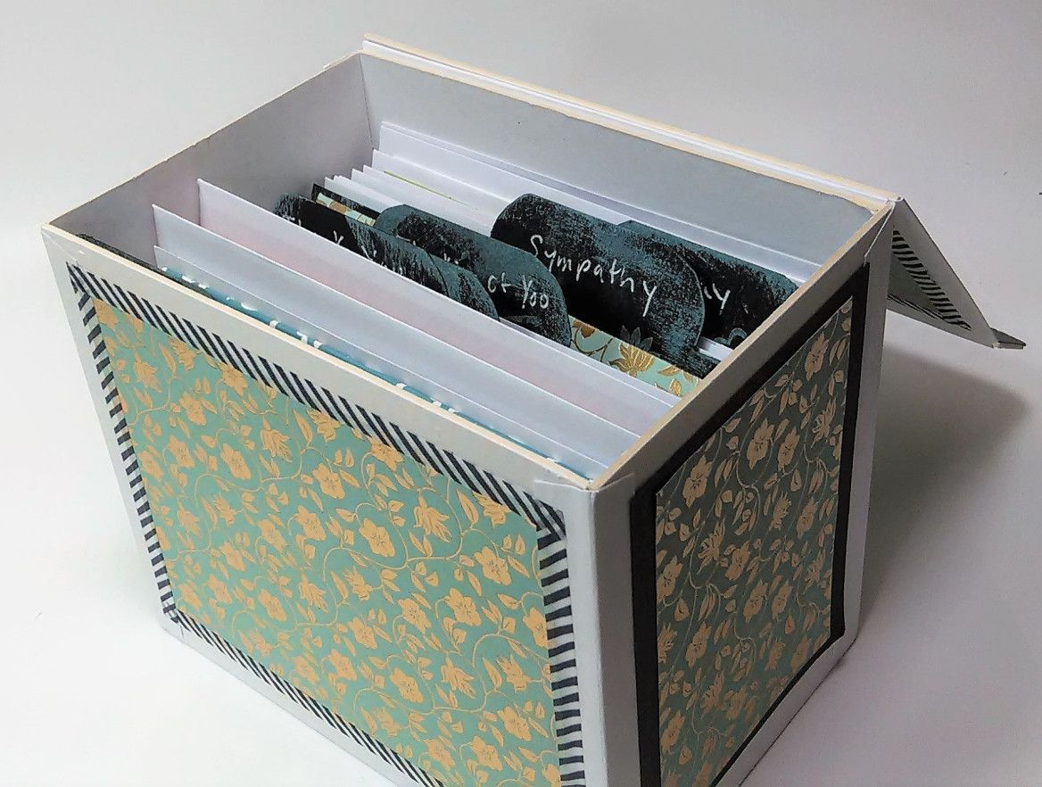 Build This Card Keeper To Organize Your Handmade Cards Card Storage Box Diy Cards Handmade Greeting Card Storage