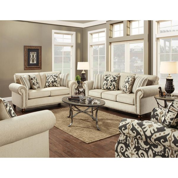 Fairly Sand Living Room Set | Brianu0027s Furniture