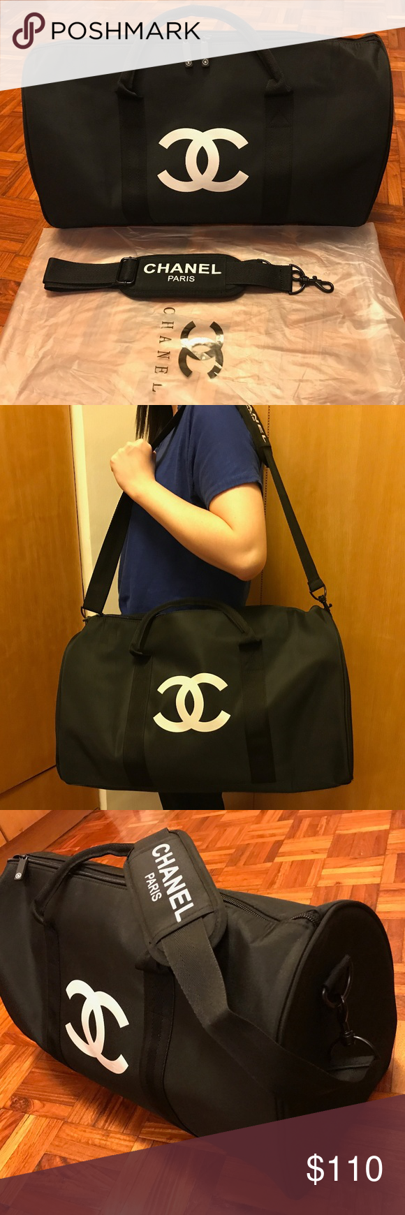 9bd85fa89d39 Chanel VIP Gift Bag Travel Bag Gym Duffel Weekend Authentic Chanel VIP  Travel Duffel Bag Weekend