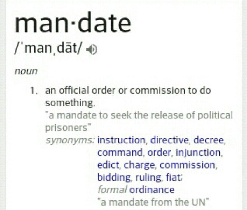 mandate synonym - 847×720