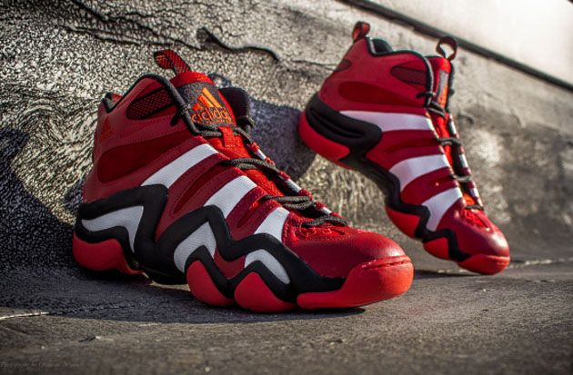 half off d063c 159cb adidas Basketball Crazy 8 - Black  White and University Red