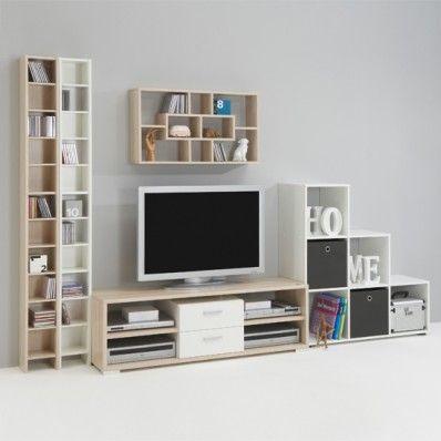 Tv Combi White Ashtree Living Room Setting 1 Living Room