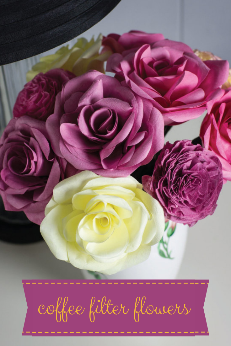 DIY Coffee Filter Flower Bouquet For Mom! --> http://www.hgtvgardens ...