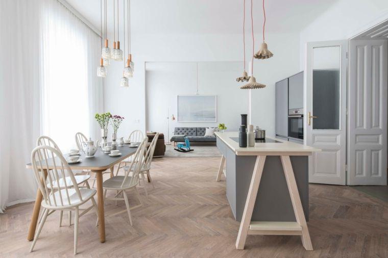 esempio di arredamento cucina moderna in stile scandinavo