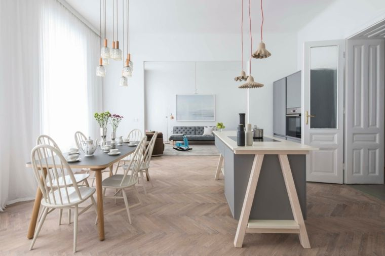 Divano Per Cucina Moderna.Esempio Di Arredamento Cucina Moderna In Stile Scandinavo