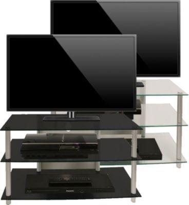 VCM TV-Rack Lowboard Konsole Fernsehtisch TV Möbel Bank Glastisch - wohnzimmer tv m bel