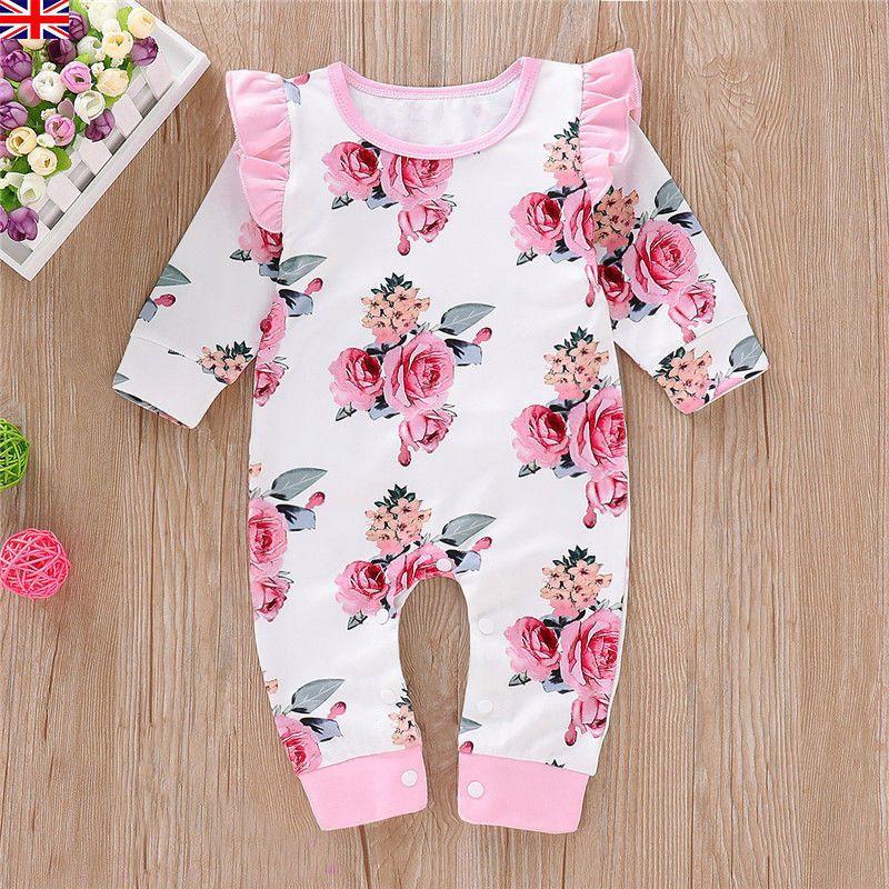Newborn Infant Kids Baby Girl Flamingo Summer Romper Jumpsuit Playsuit Clothes A